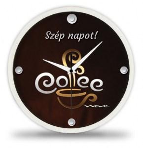 KONYHAI faliórák : Elegáns kávés falióra kony01